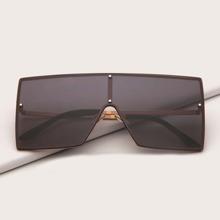 Sonnenbrille mit flache Oberteil