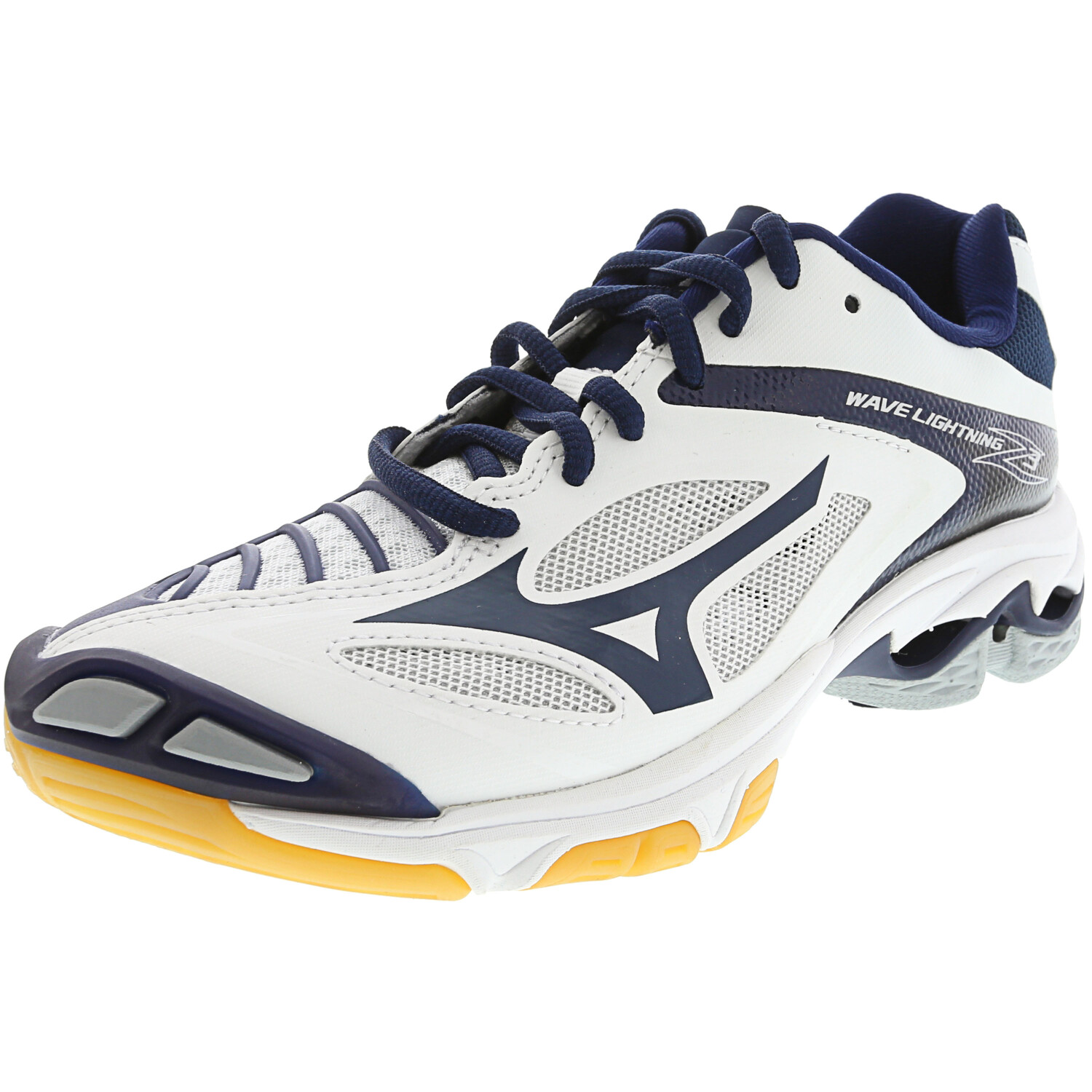 Mizuno Wave Lightning Z3 Volleyball Shoe - 8M - White / Navy / Black