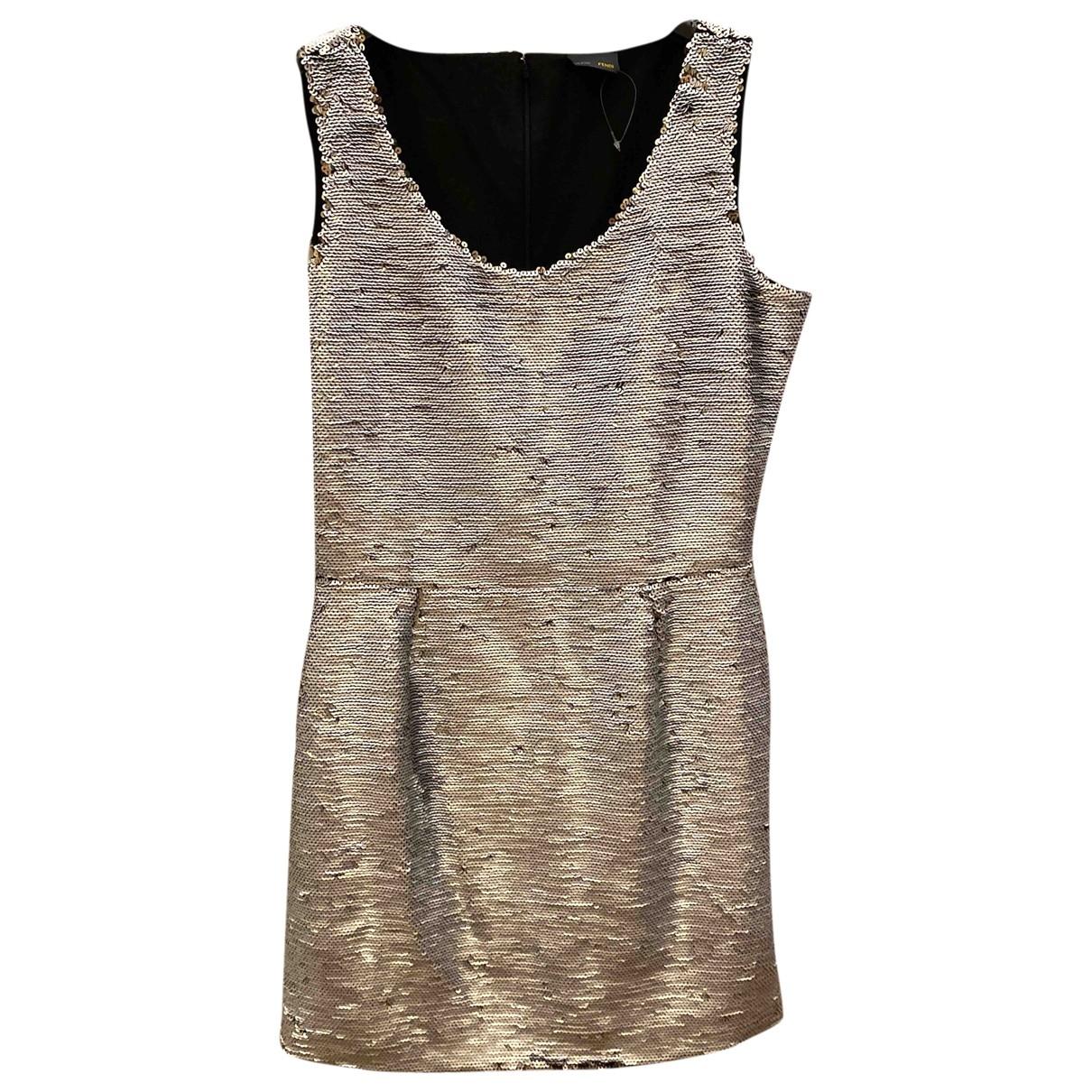Fendi \N Silver Glitter dress for Women 44 IT
