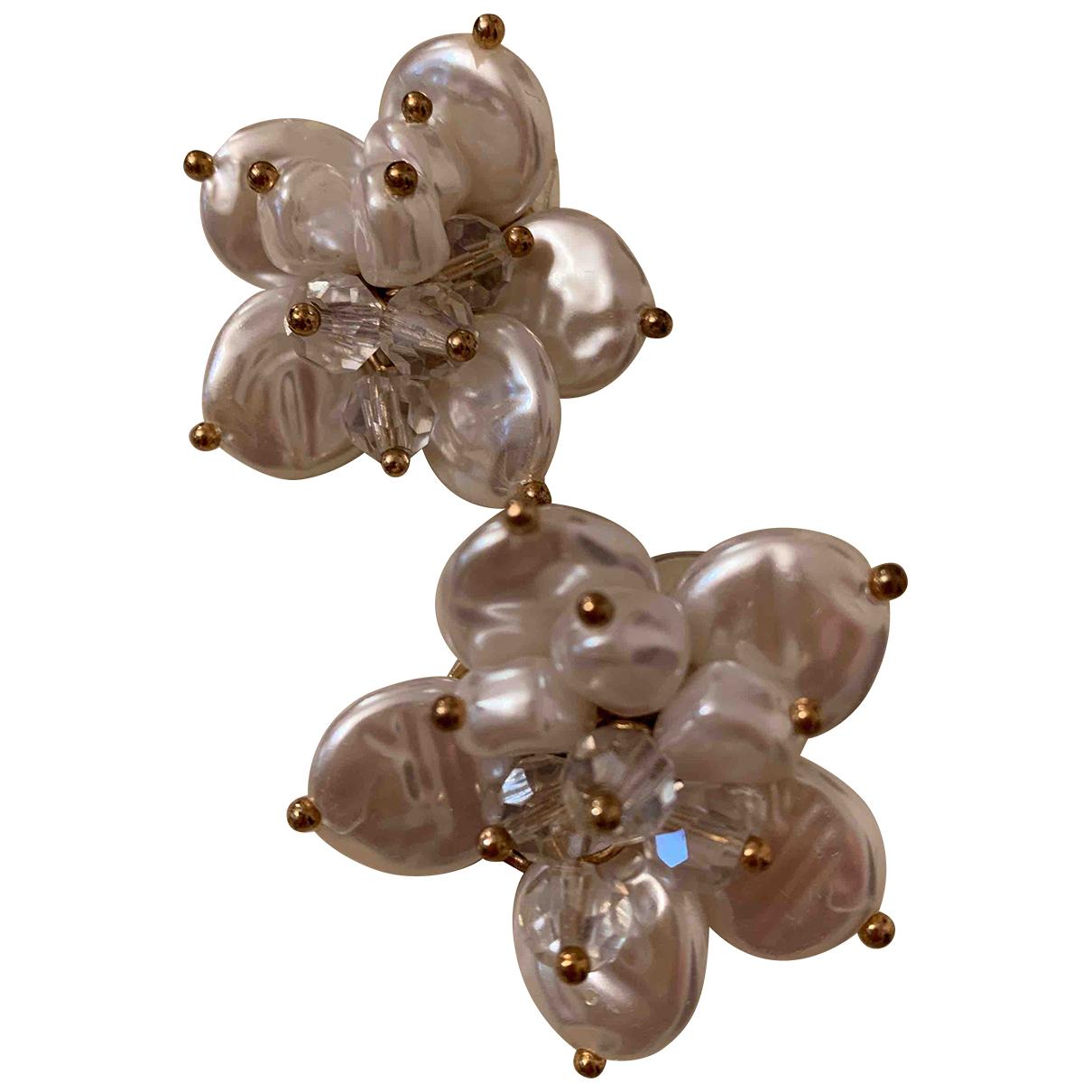 - Boucles doreilles Motifs Floraux pour femme en perles - dore