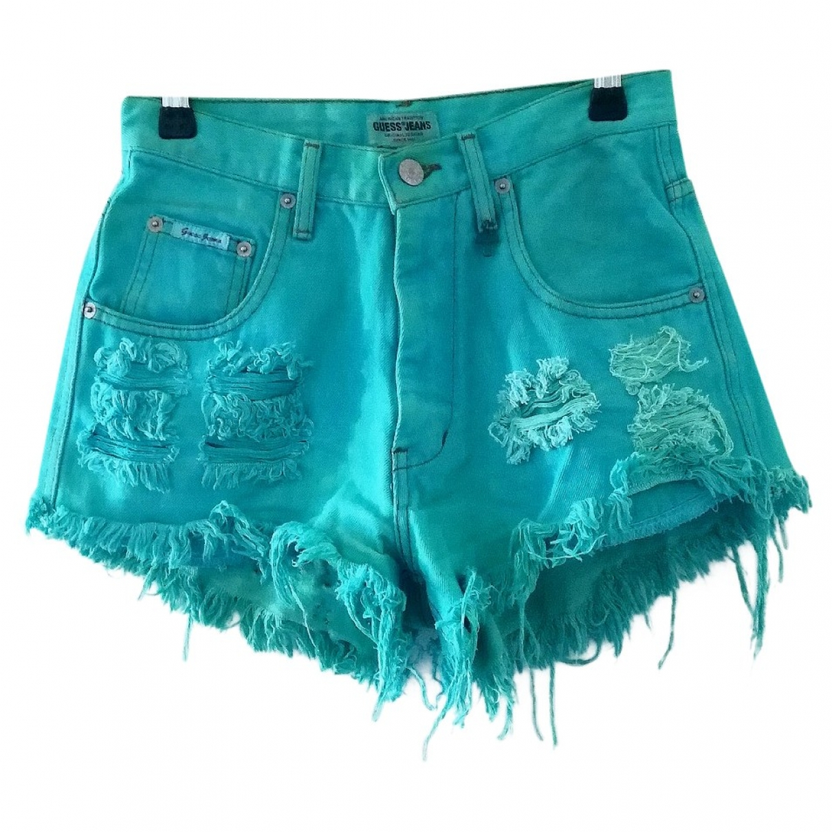 Guess \N Shorts in  Tuerkis Denim - Jeans