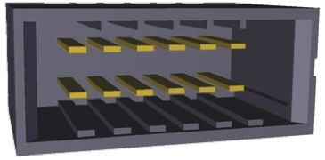 TE Connectivity , Dynamic 2000, 12 Way, 2 Row, Straight PCB Header