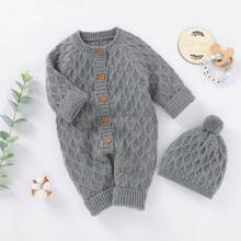 Baby Boy Cable Knit Sweater Jumpsuit