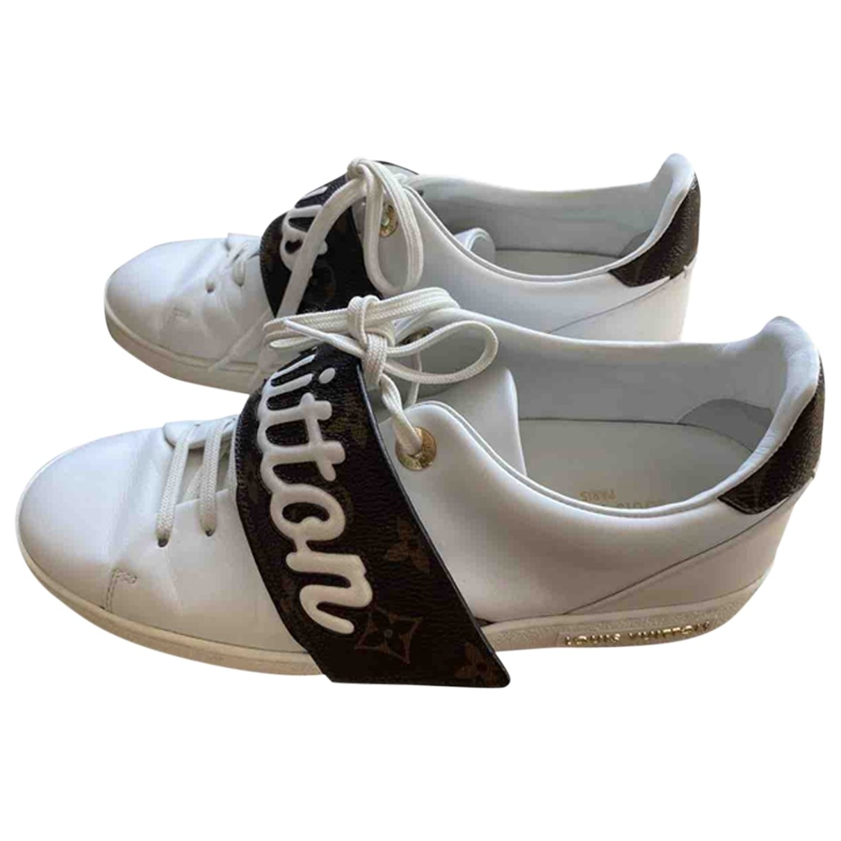 Louis Vuitton FrontRow White Leather Trainers for Women 39 EU