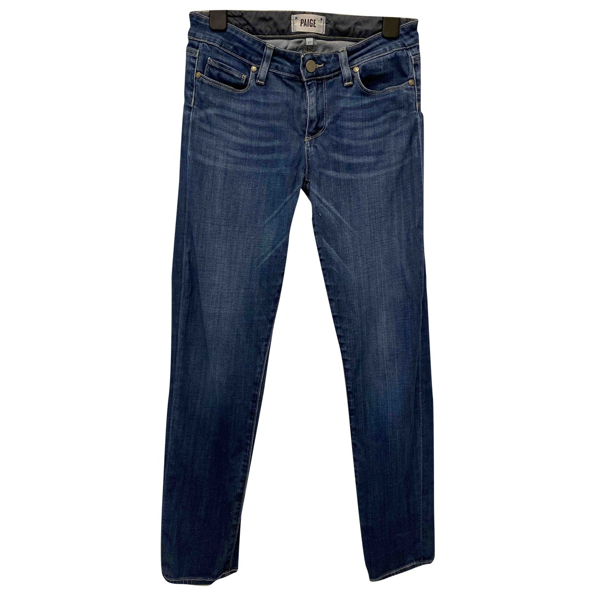 Paige Jeans \N Blue Cotton - elasthane Jeans for Women 27 US