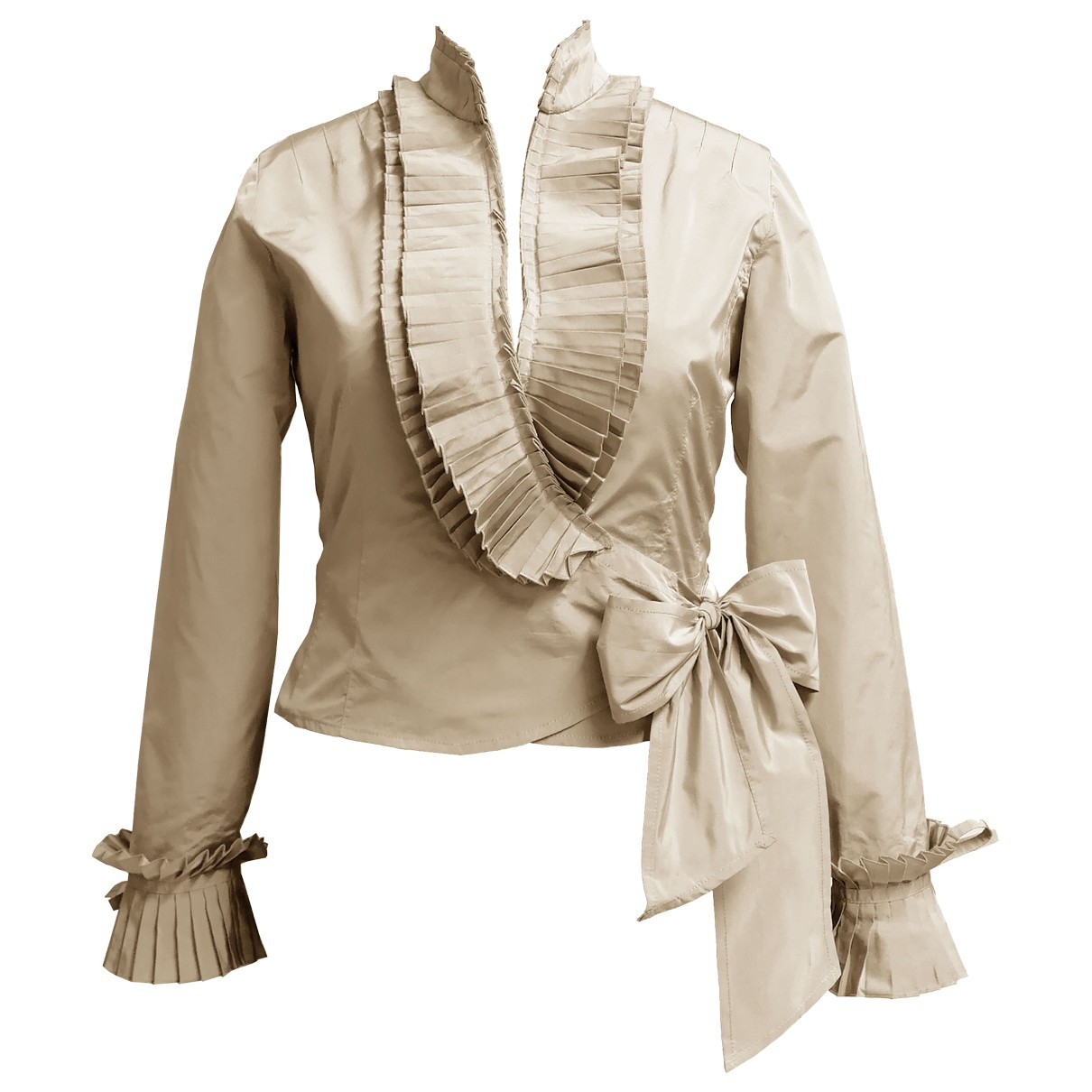 Non Signé / Unsigned \N Beige jacket for Women L International