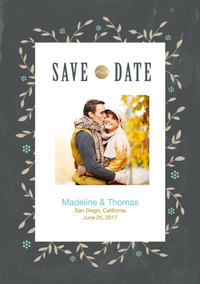 Save the Date Flat Matte Photo Paper Cards with Envelopes, 5x7, Card & Stationery -Save Our Date Floral