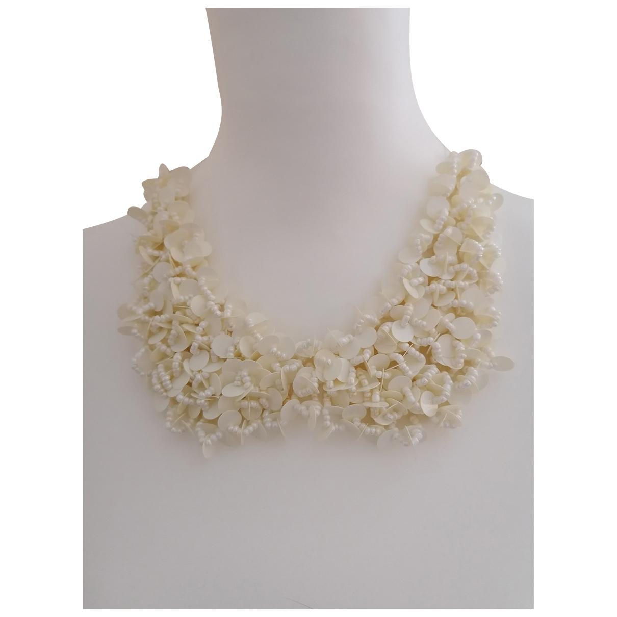 - Collier   pour femme en toile - blanc