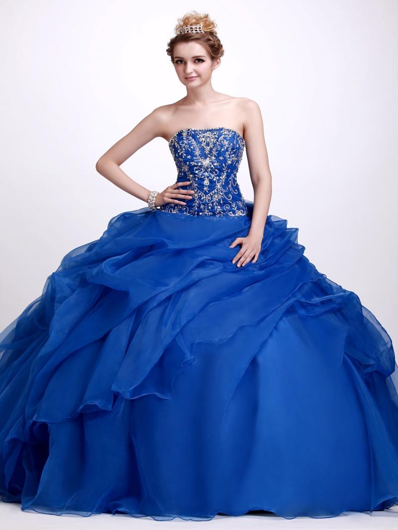 A-Line Floor-Length Strapless Angerlik's Quinceanera Ball Gown Dress