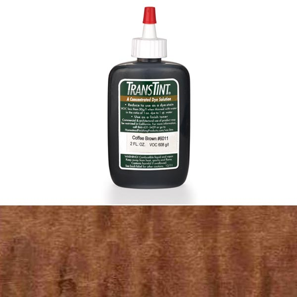 Coffee Brown Transtint Alcohol/Water Soluble Dye 1 oz