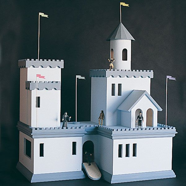 Woodworking Project Paper Plan to Build Castle Doll House, Plan No. 794