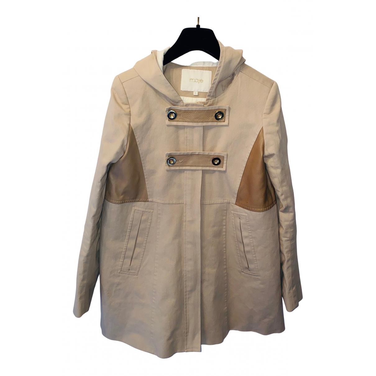 Maje - Manteau   pour femme en coton - beige