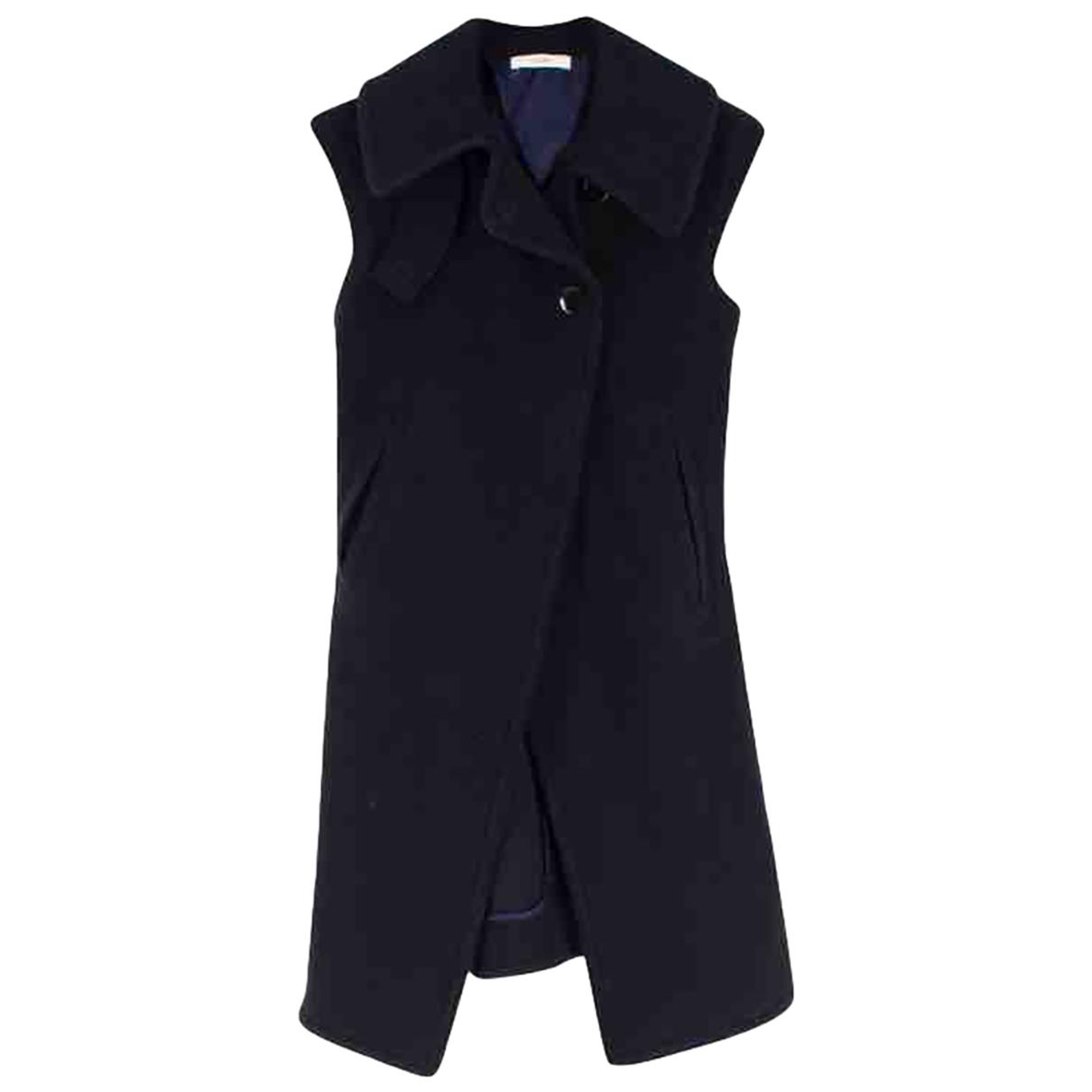 Celine \N Navy Wool coat for Women 38 FR