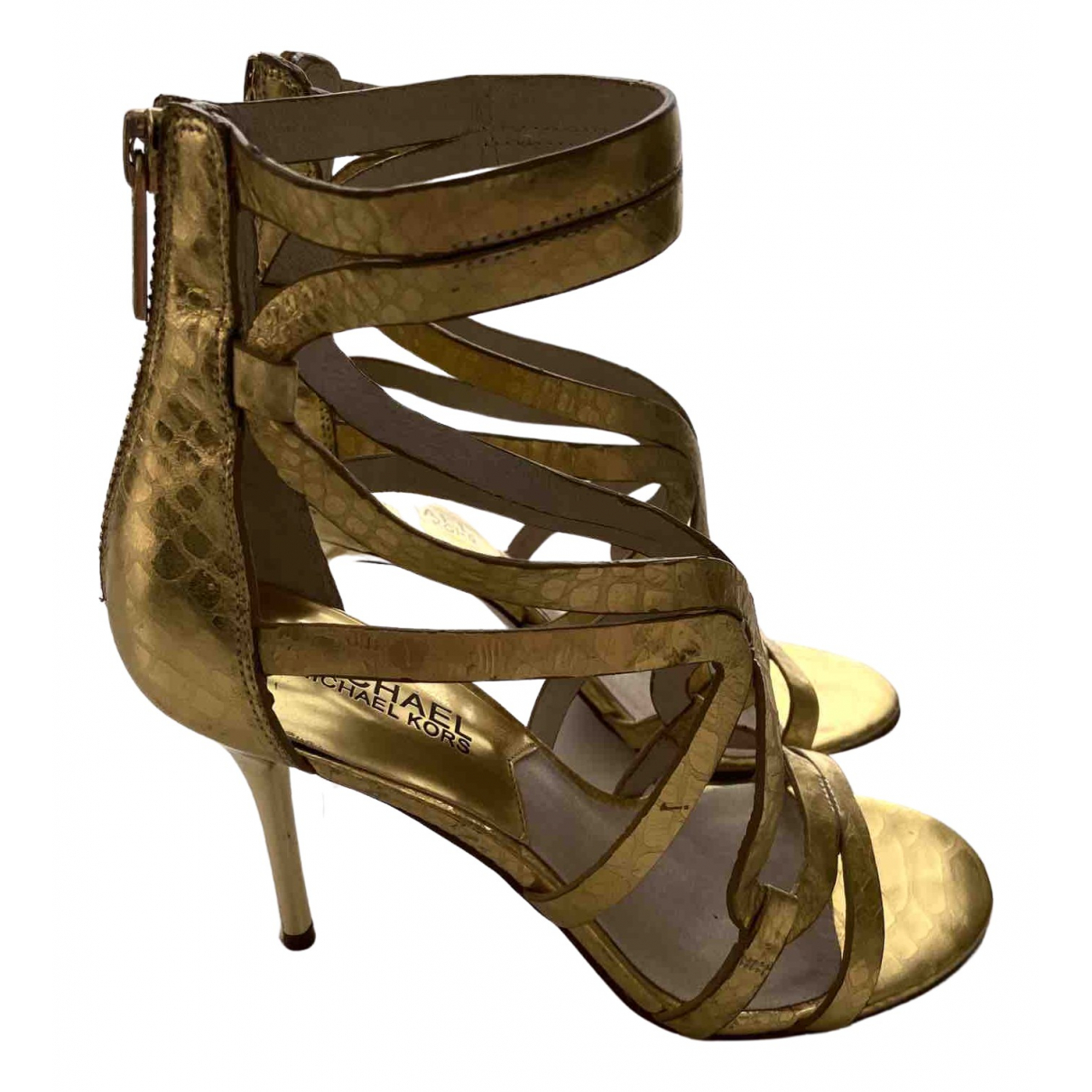 Michael Kors - Escarpins   pour femme en cuir - dore