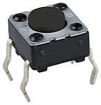 C & K IP40 Blue Button Tactile Switch, Single Pole Single Throw (SPST) 50 mA 3.5 (Dia.)mm Surface Mount (650)