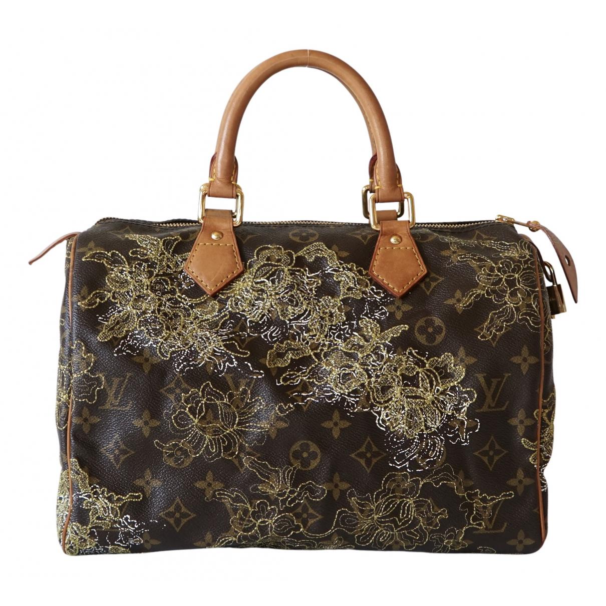 Louis Vuitton Speedy Brown Cloth handbag for Women N