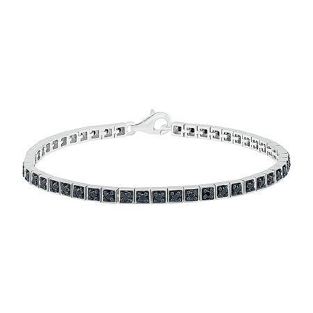Sterling Silver Solid Link Bracelet, One Size , No Color Family