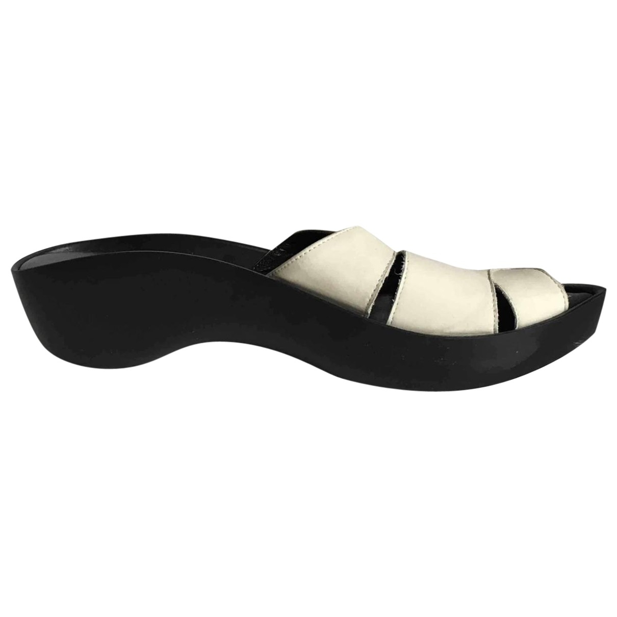 Robert Clergerie \N White Leather Sandals for Women 36.5 EU