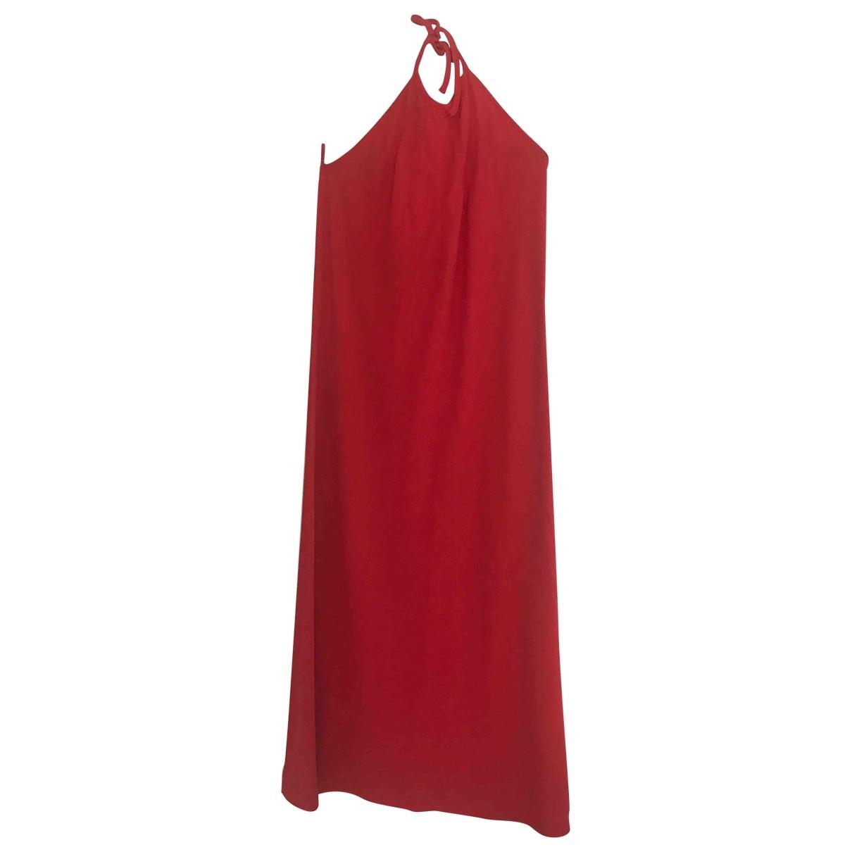 Joseph \N Kleid in  Rot Baumwolle - Elasthan