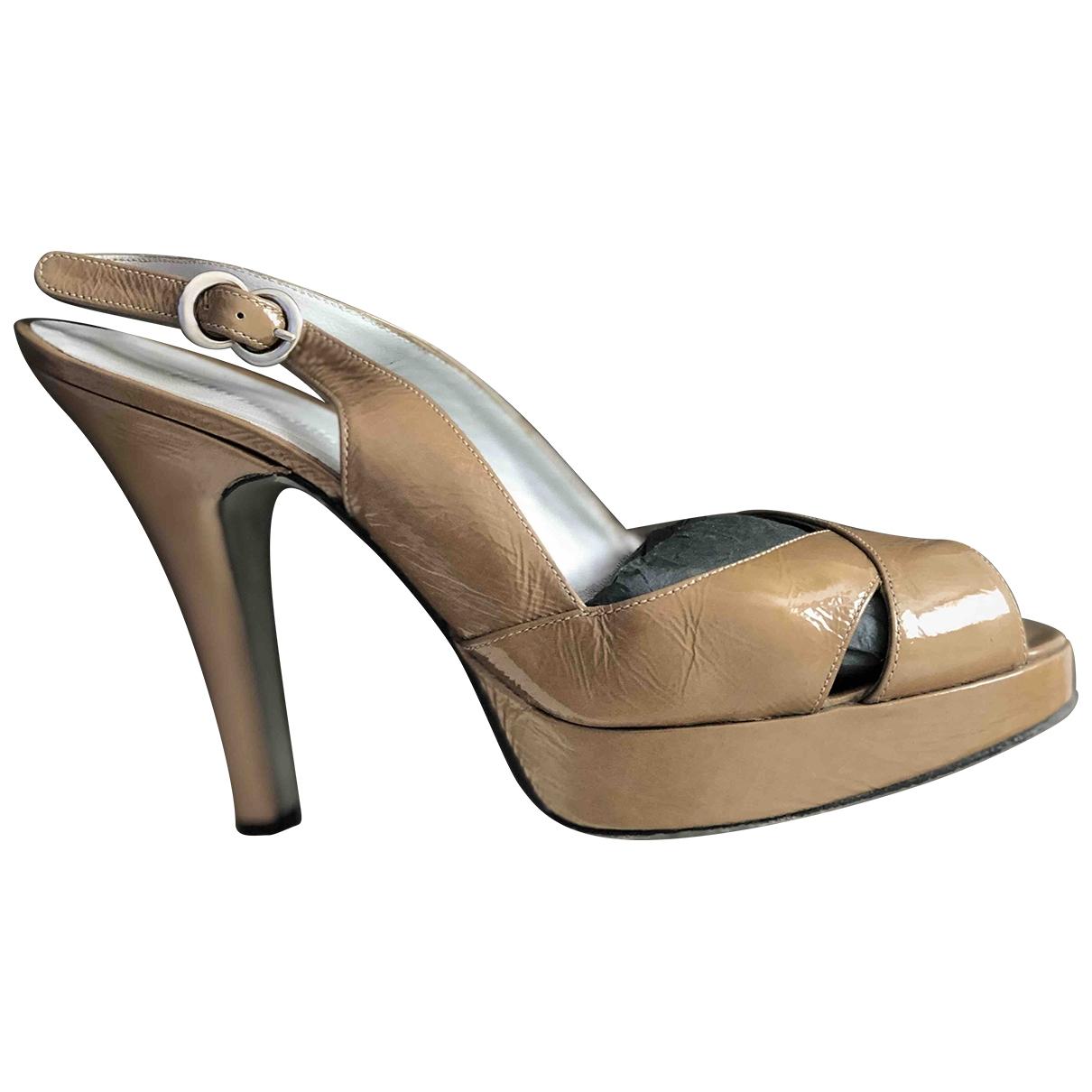 Non Signé / Unsigned \N Beige Fur Heels for Women 37 EU
