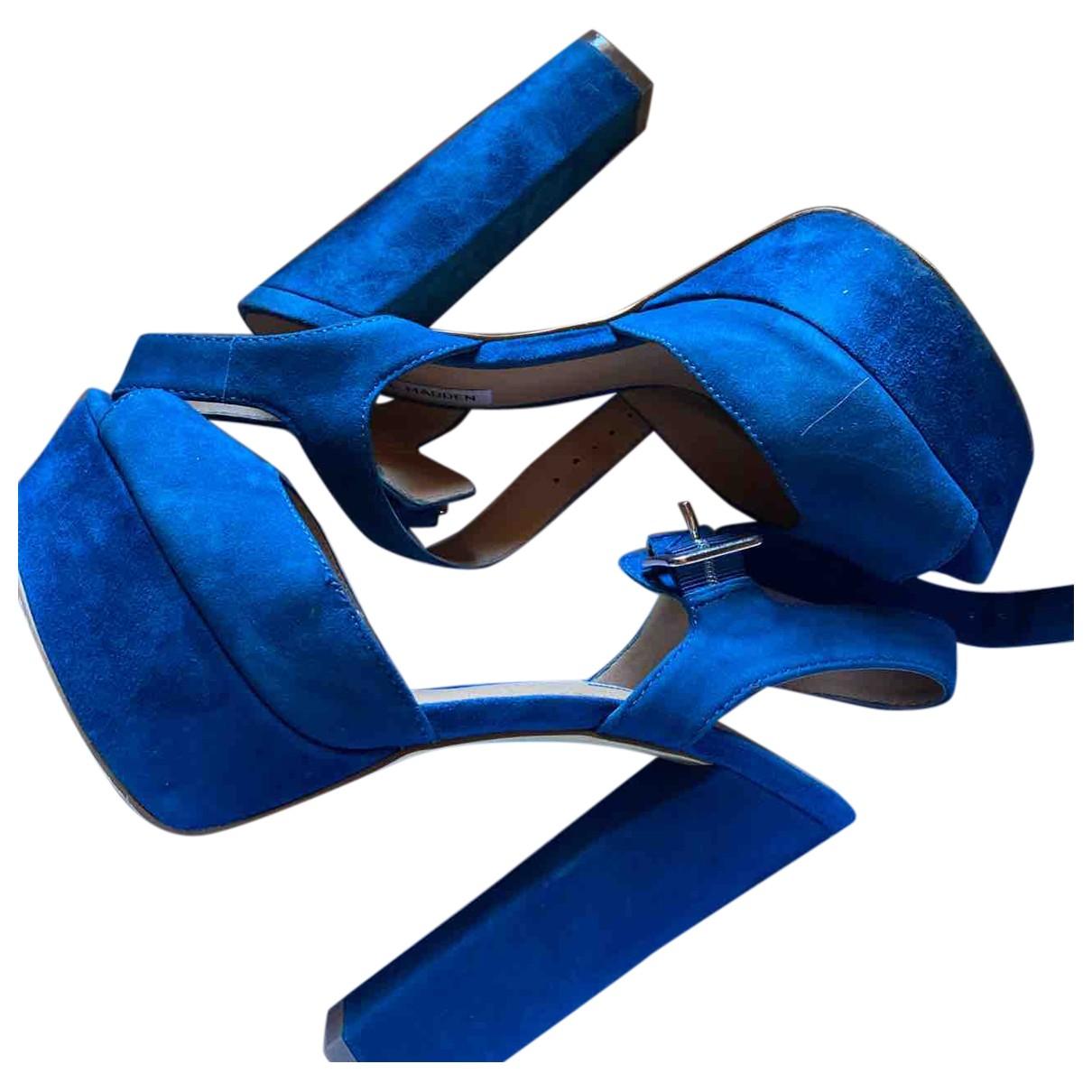 Steve Madden N Blue Suede Heels for Women 9 UK