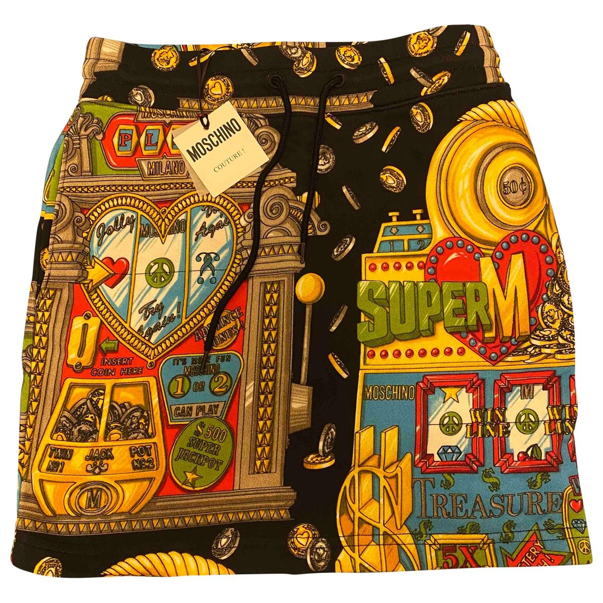 Moschino \N Black Cotton skirt for Women 32 FR