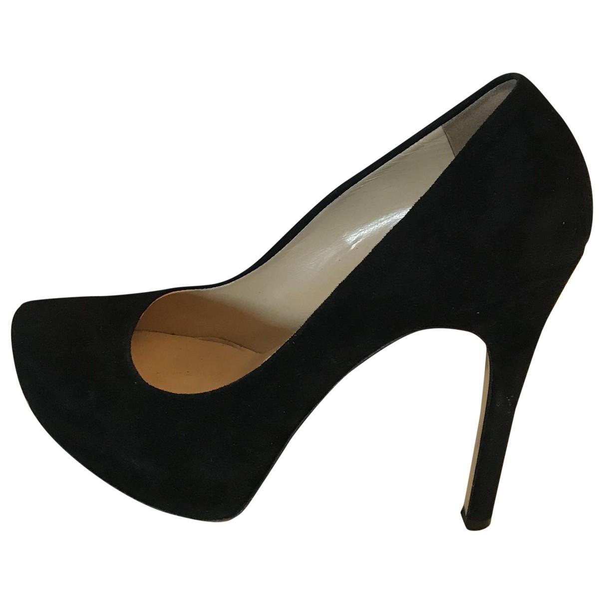 Twin Set N Black Suede Heels for Women 40 IT