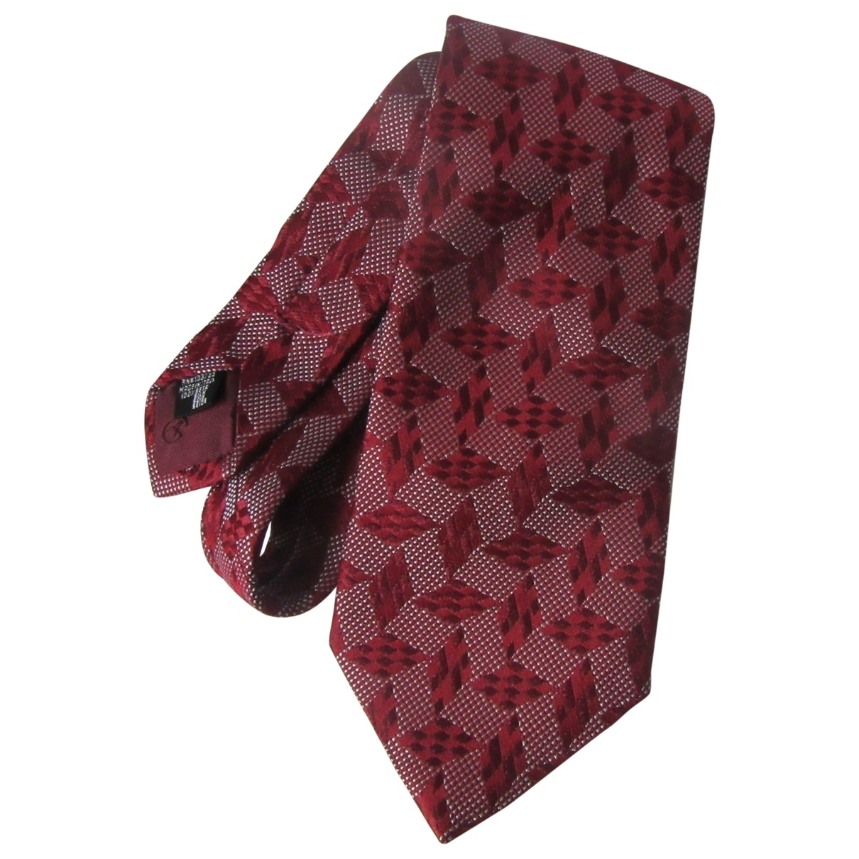 Giorgio Armani - Cravates   pour homme en soie - bordeaux