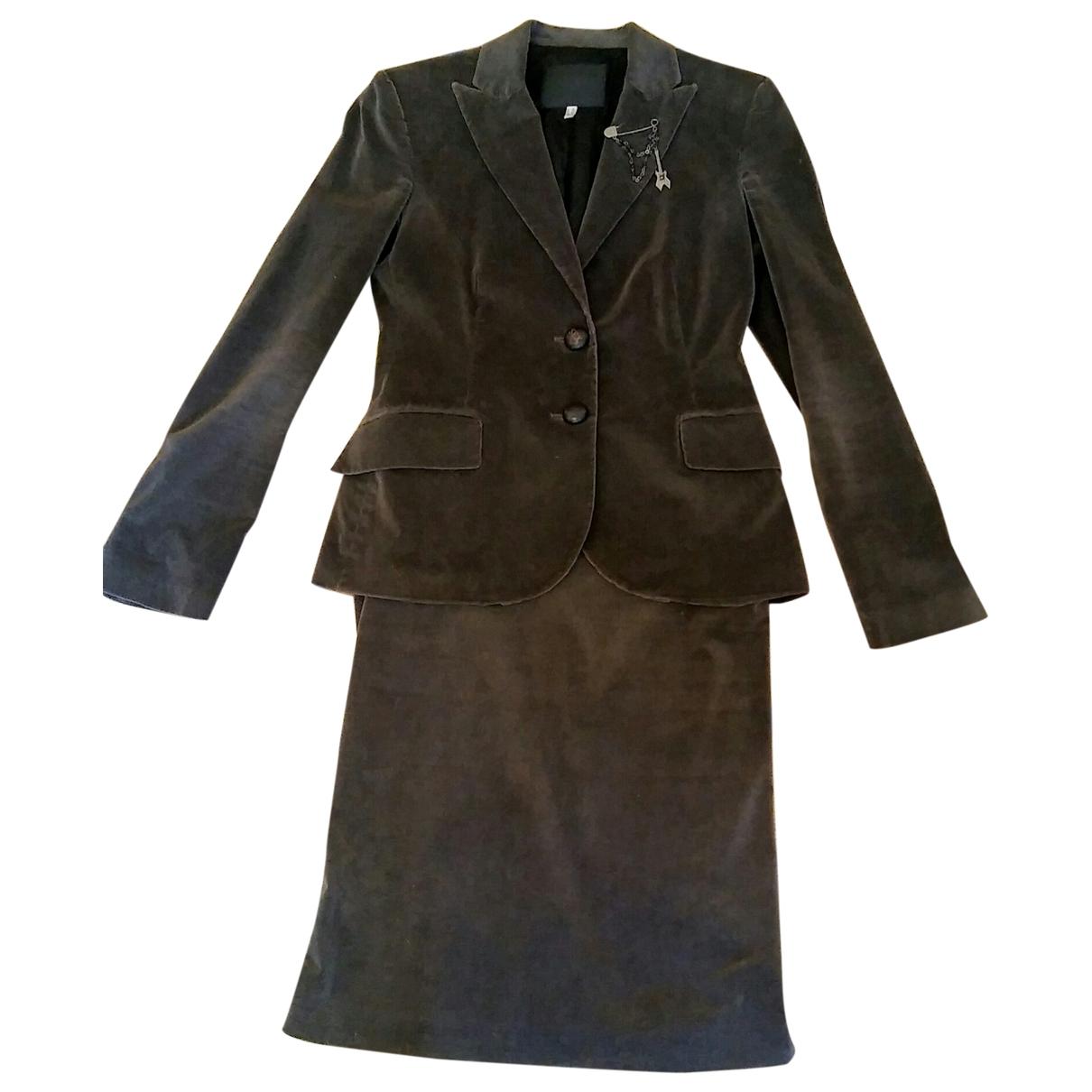 John Richmond - Robe   pour femme en coton - elasthane - gris