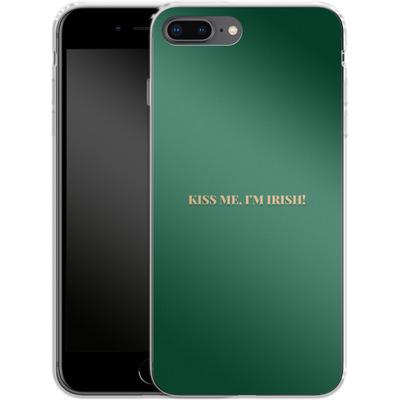 Apple iPhone 8 Plus Silikon Handyhuelle - Kiss Me Im Irish von caseable Designs