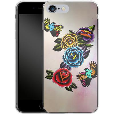 Apple iPhone 6s Plus Silikon Handyhuelle - Tattoo Roses von Mark Ashkenazi