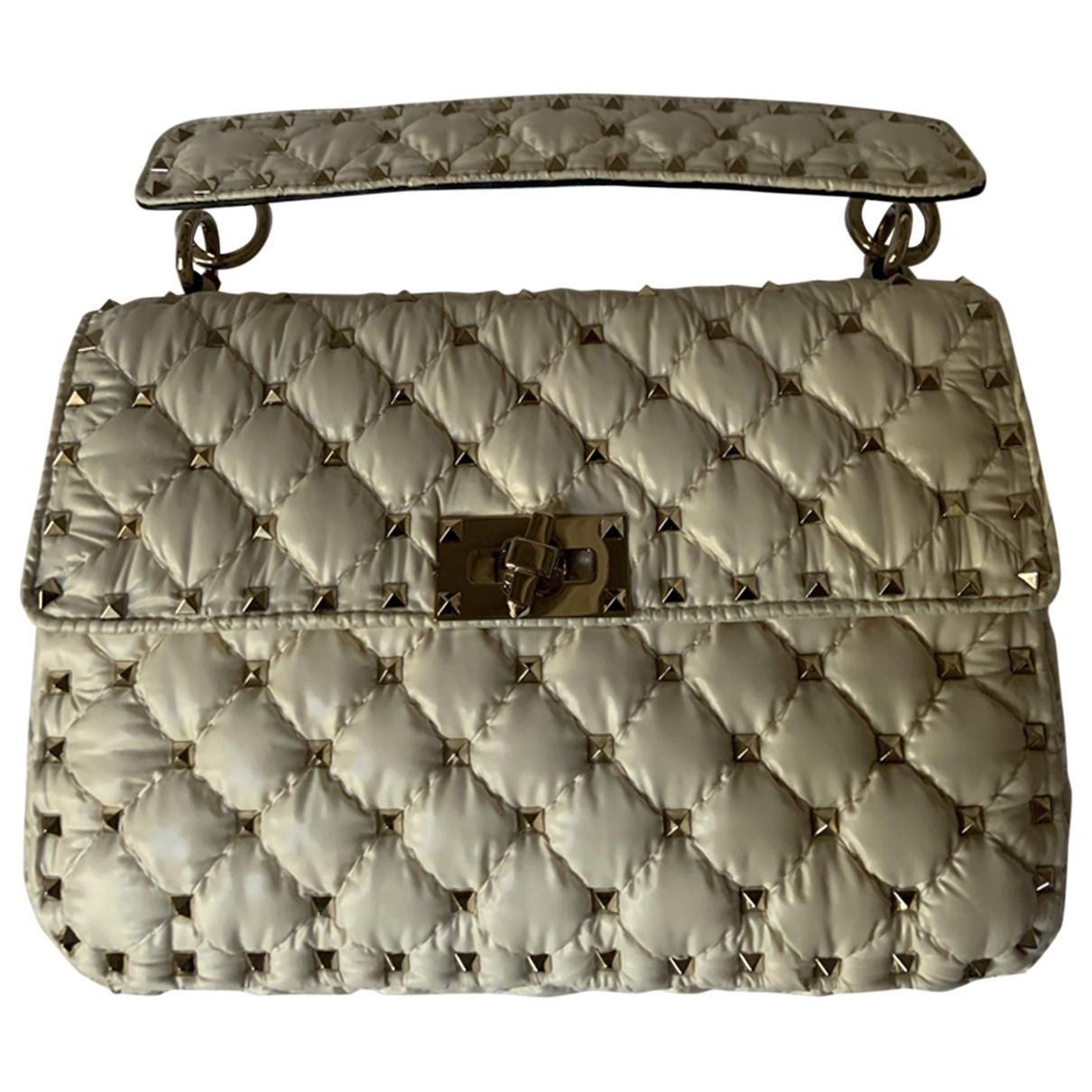 Valentino X Moncler \N Handtasche in  Weiss Leinen