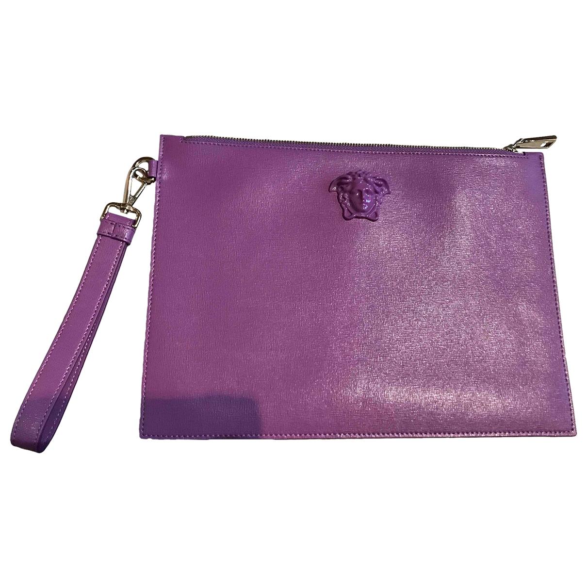 Versace - Petite maroquinerie   pour femme en cuir - violet