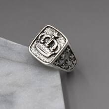 Men Crown Decor Ring