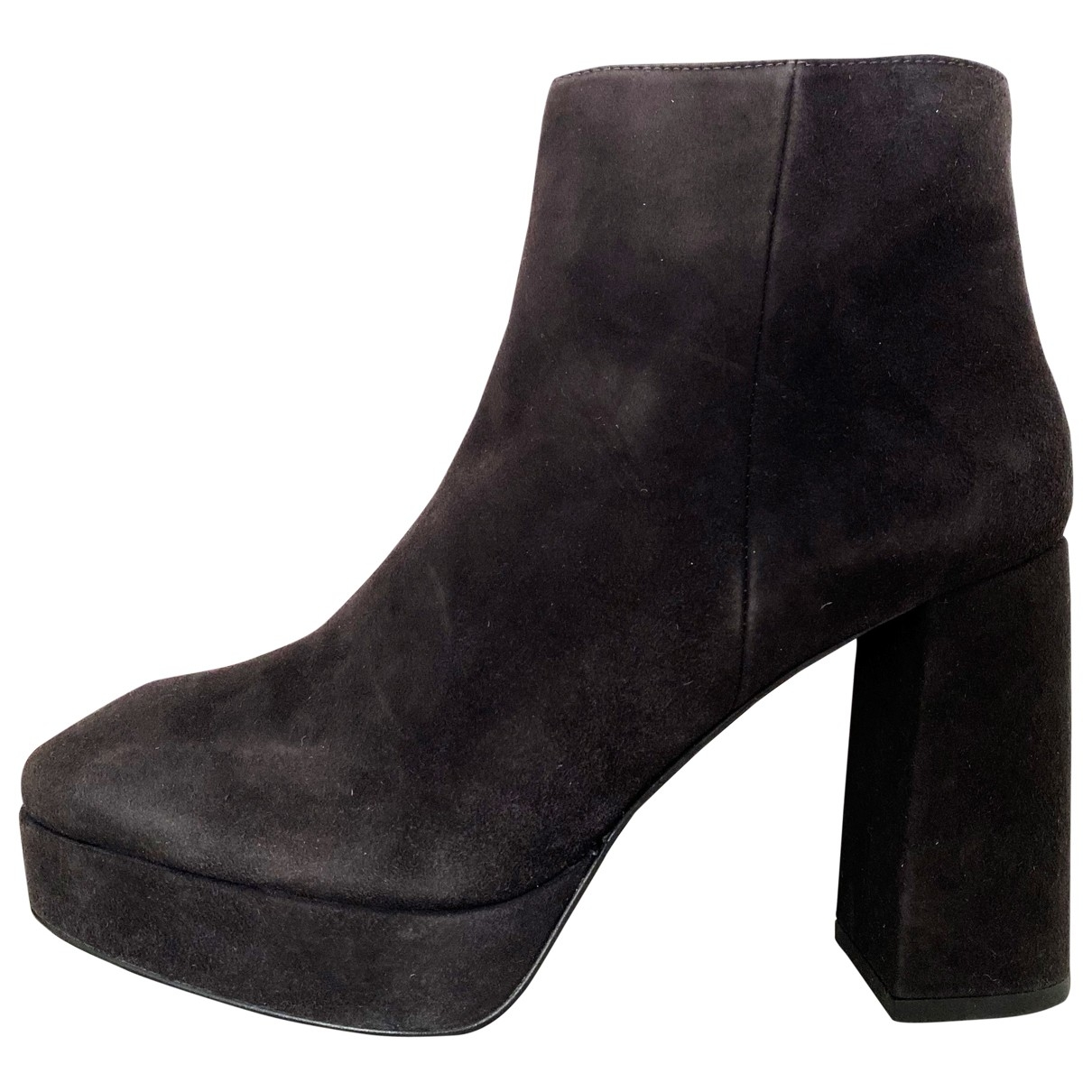 Bimba Y Lola \N Grey Suede Ankle boots for Women 41 EU