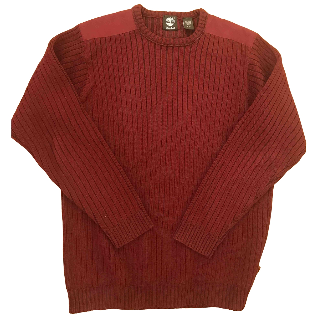 Timberland \N Pullover.Westen.Sweatshirts  in  Bordeauxrot Baumwolle