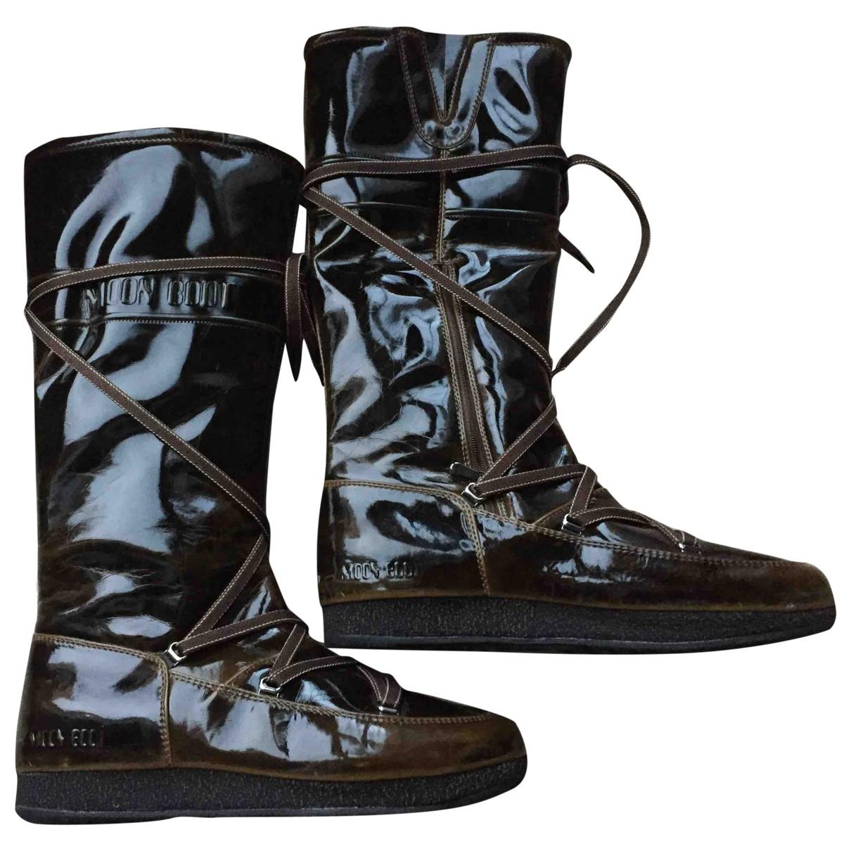 Moon Boot \N Stiefel in  Khaki Kunststoff