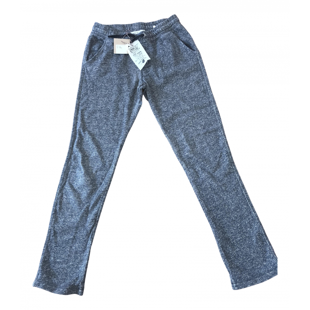 Isabel Marant Pour H&m \N Grey Cotton Trousers for Women 36 FR