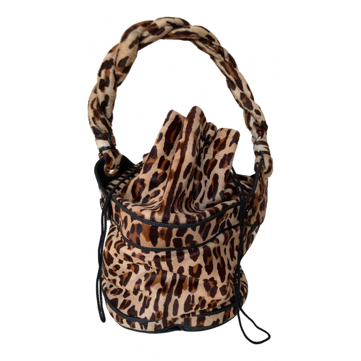 Fendi Palazzo Bucket Brown Pony-style calfskin handbag for Women \N