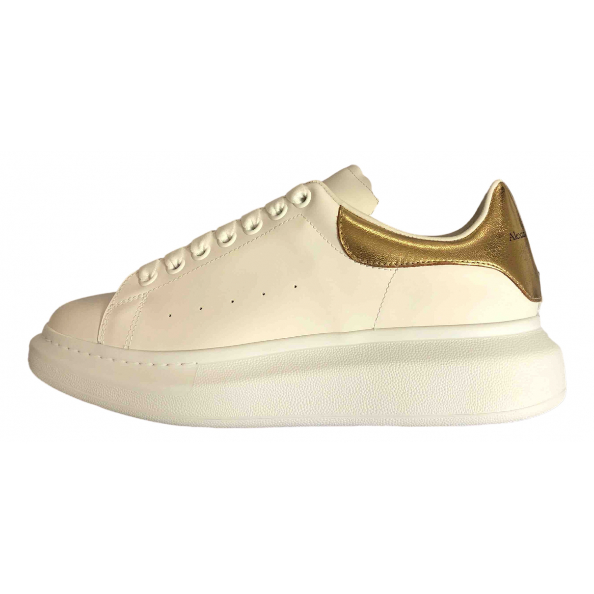 Alexander Mcqueen Oversize White Leather Trainers for Men 41 EU