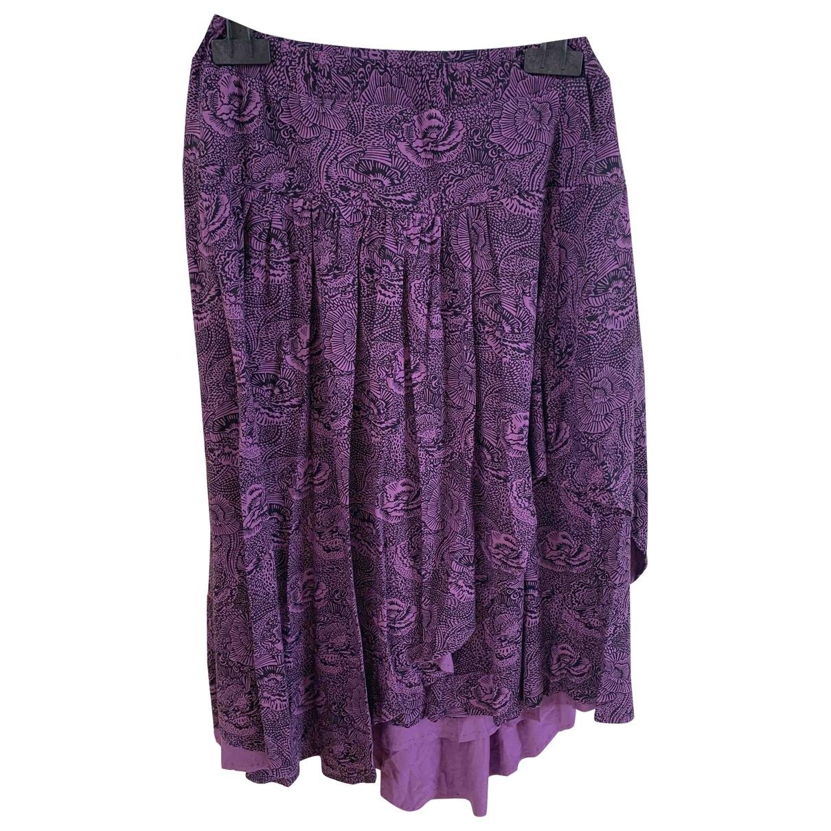 Brora - Jupe   pour femme en coton - elasthane - violet