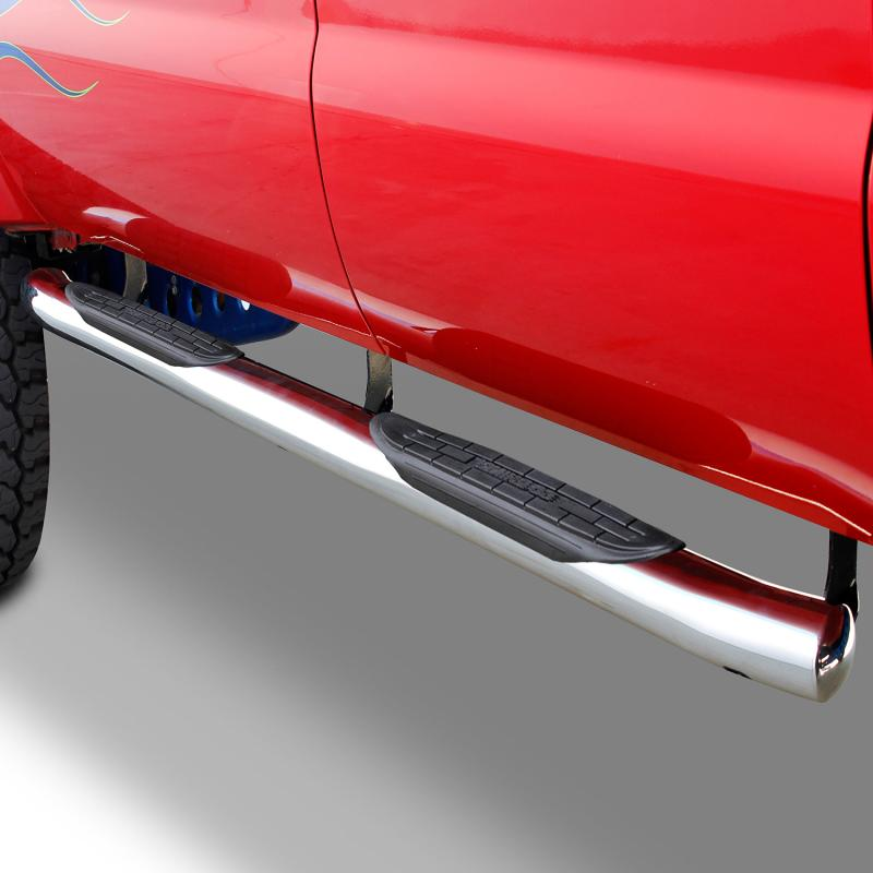 Go Rhino 67046PS 415 Series SideSteps (Cab-Length) with Welded End Caps