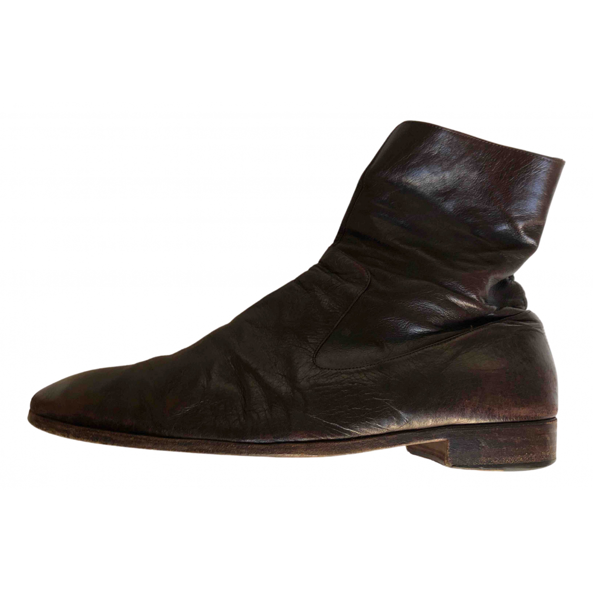 Yves Saint Laurent \N Brown Leather Boots for Men 44 EU