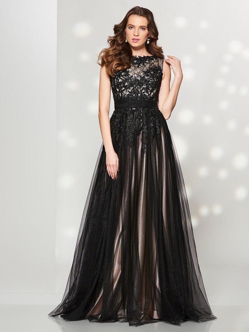 Ericdress A Line Bateau Lace Applique Tulle Long Prom Dress