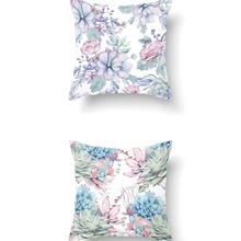 1pc Floral Print Cushion Cover