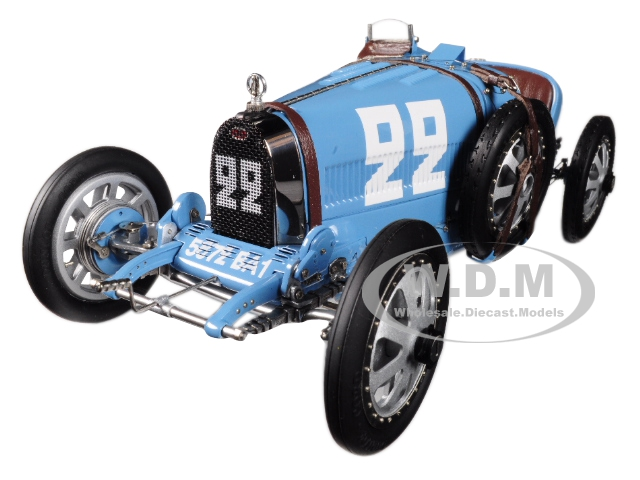 Bugatti T35 22 National Color Project Grand Prix France Limited Edition to 1000 pieces Worldwide 1/18 Diecast Model Car by CMC