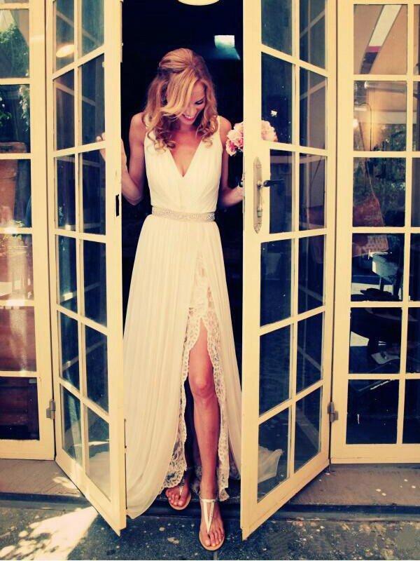 Elegante Hochzeitskleider Schlicht Gunstig , Sexy Hochzeitskleider Online Bestellen