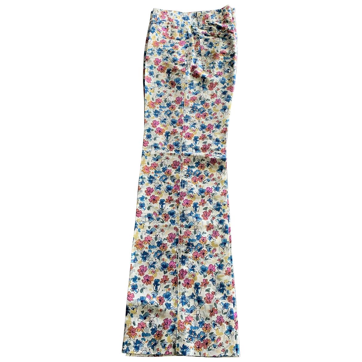 Dolce & Gabbana \N Multicolour Silk Trousers for Women 42 IT