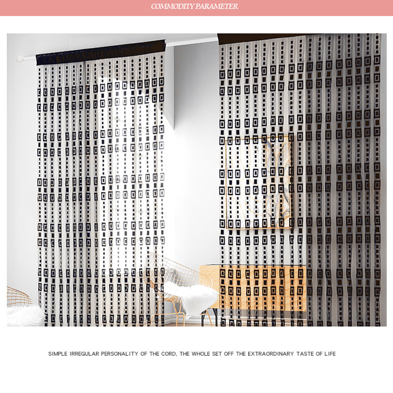 2*2M 1*2M Multicolor Living Room and Porch Decorative String Sheer Curtain