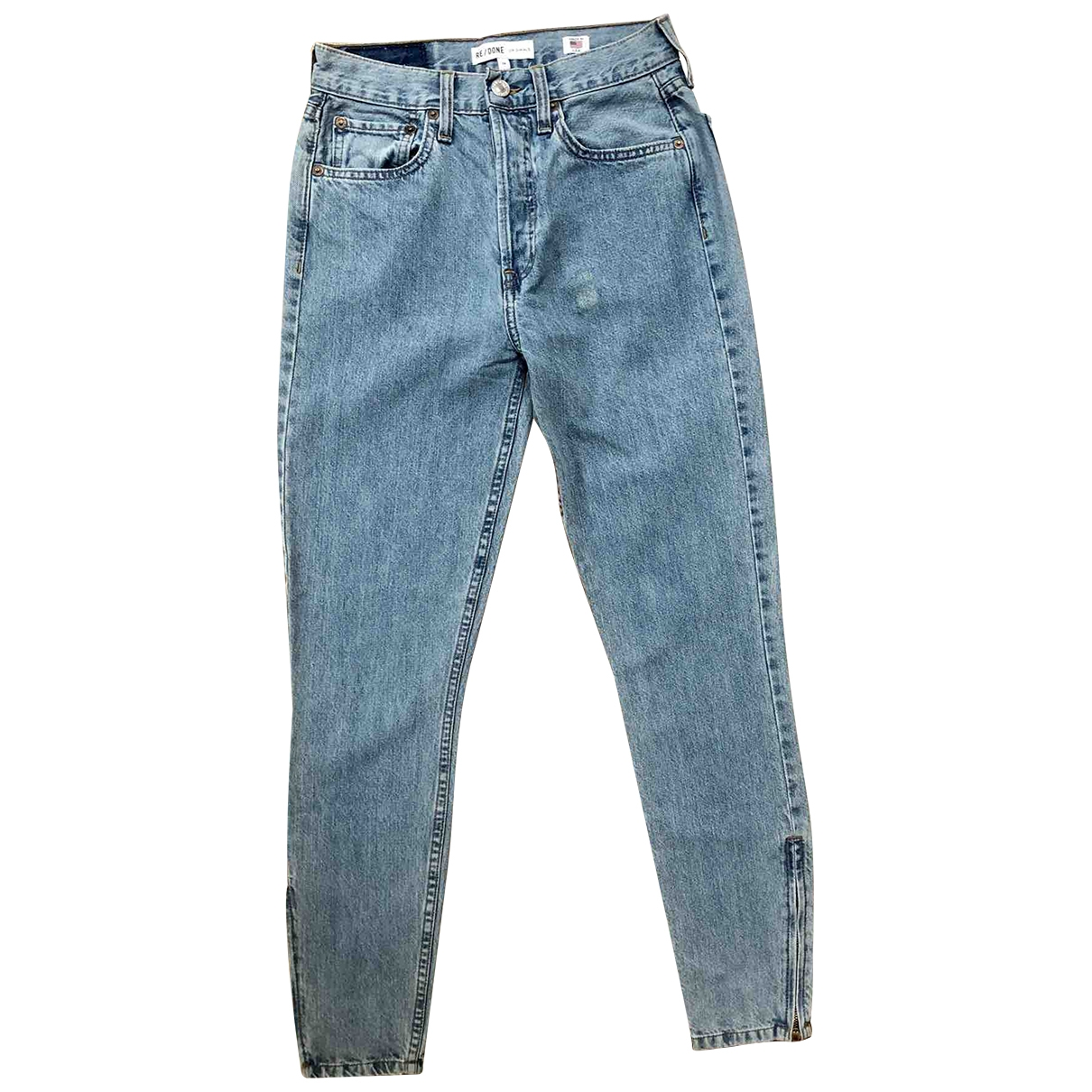 Re/done \N Blue Cotton Jeans for Women 26 US